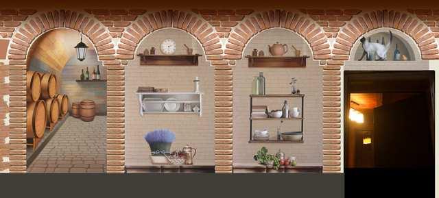 кухня прованс. роспись